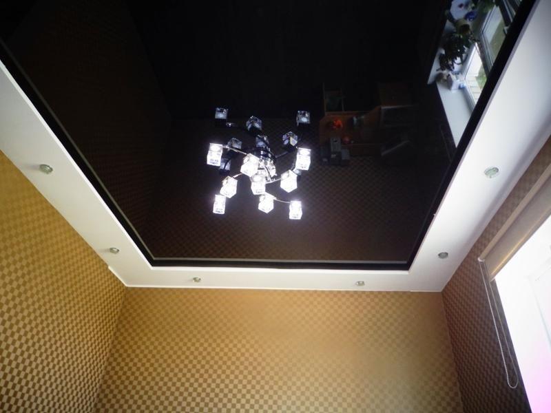 натяжной потолок черного цвета фото отзывы блюда